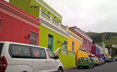 Flat-roofed pastel homes are a part of the Malay Quarter.
