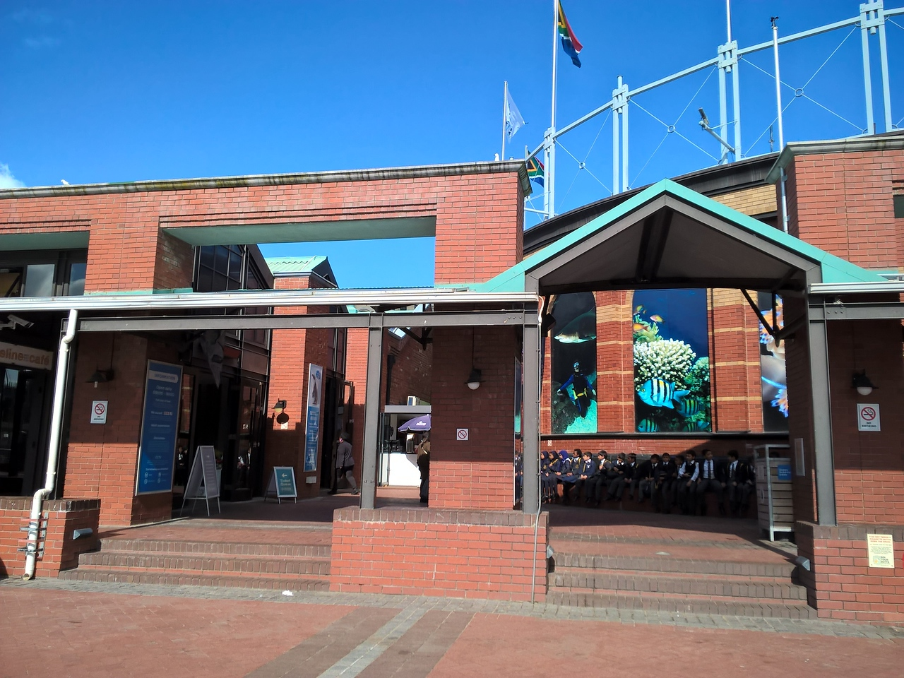 Since evryone on the trip was an Aquarium staff or volunteer, we, of course, visited the Cape Town Aquarium!
