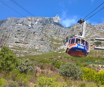 You can hike up or take a revolving gondola to the top.