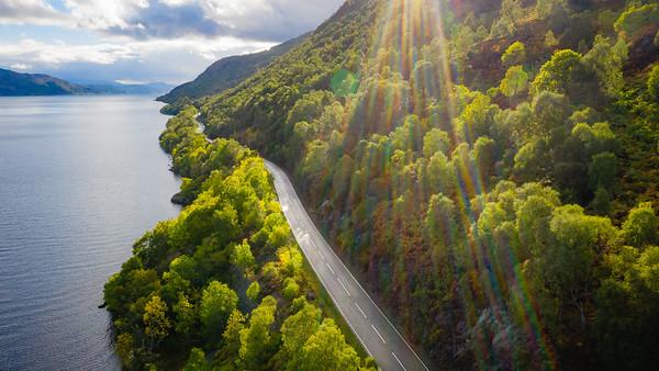 along Loch Ness :D