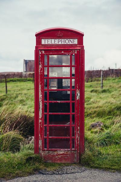 K6 phone booth on the Isle of Skye