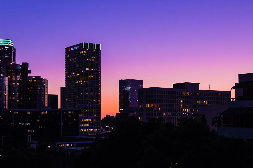 LA Downtown Sunset