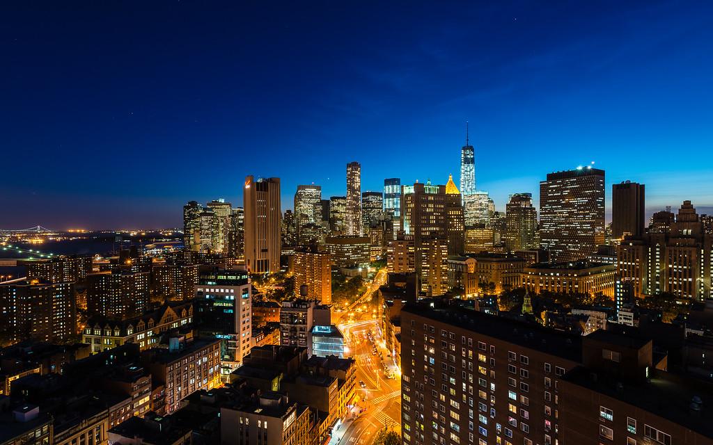 Manhattan at the magic hour