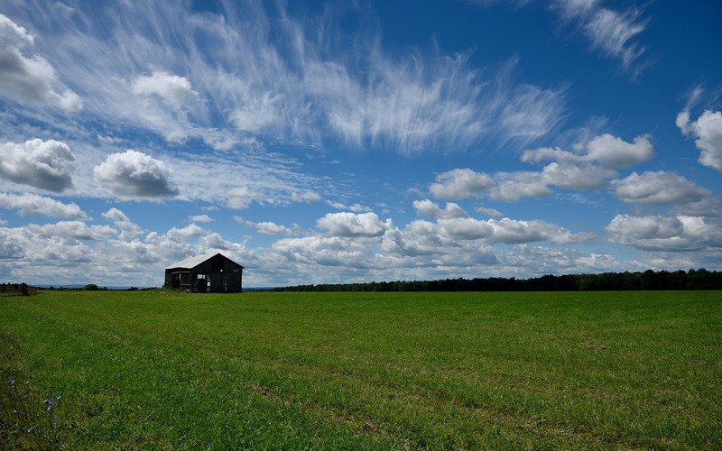 Big Sky Country on Nations Road.  Nikon D750 and 24-120mm f/4G VR lens (August 2015).