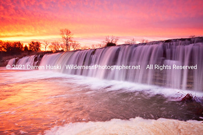 Big falls on the West Fork of the Trinity River in Fort Worth, Texas.