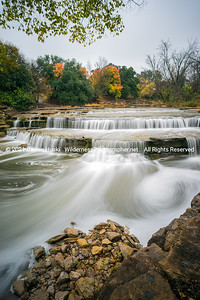 Autumn rains and colors at airfield Falls in Fort Worth