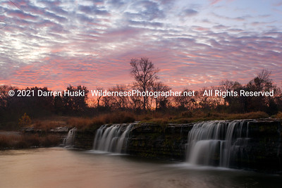 Sunrise over the Big Falls of the West Fork.