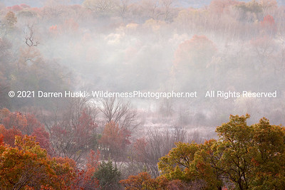 Fall color, frost, and fog on the West Fork.