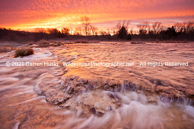 West Fork of the Trinity River at sunrise