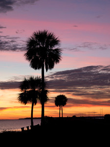 Sunset, Apalachicola, FL.