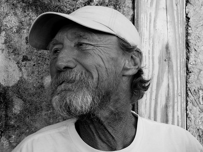 """Old man Mike"", Apalachicola, FL."