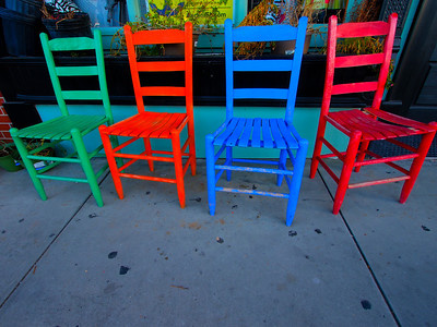 """Have a seat"", Chairs, Apalachicola, FL."
