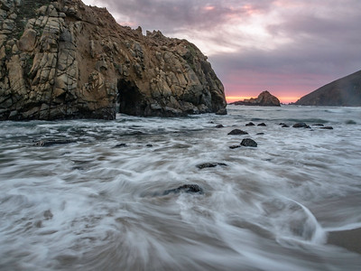 Pfeiffer Beach sunset, Big Sur, CA.