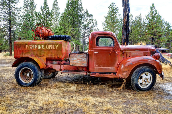Fire Truck, Bend-Sisters Hwy, OR.