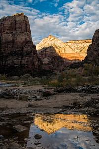Virgin River Reflection, Zion N.P.