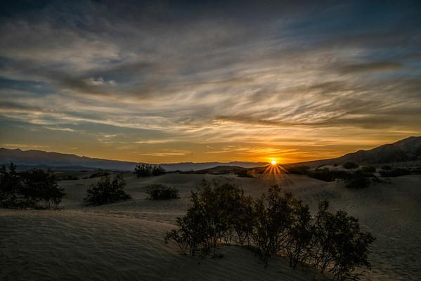Mequite Dunes Sunrise, Death Valley, CA.