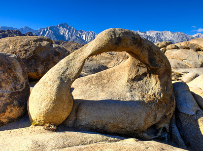 Mobius Arch and Mt Whitney, Alabama Hills, CA.