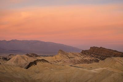 Zabriskie Point Sunrise, Death Valley, CA.