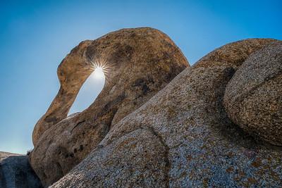 Mobius Arch Sunstar, Alabama Hills, CA.