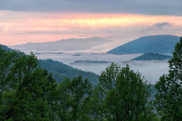 Cloud inversion, Smoky Mountains