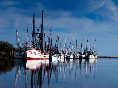 Shrimp boats, Darien, GA.