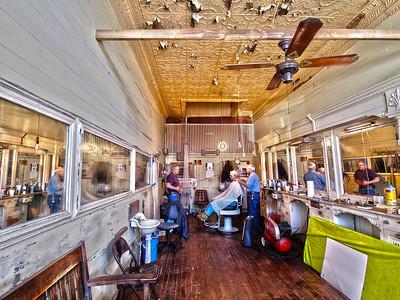 """""""Barber Shop Trio"""", Apalachicola Barber Shop, Apalachicola, FL."""