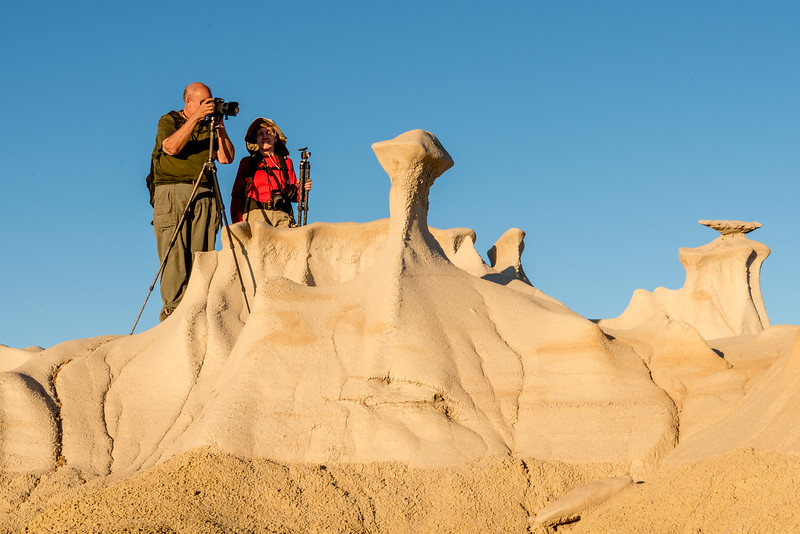 Taking Turns for a Shot of the Bisti Wings