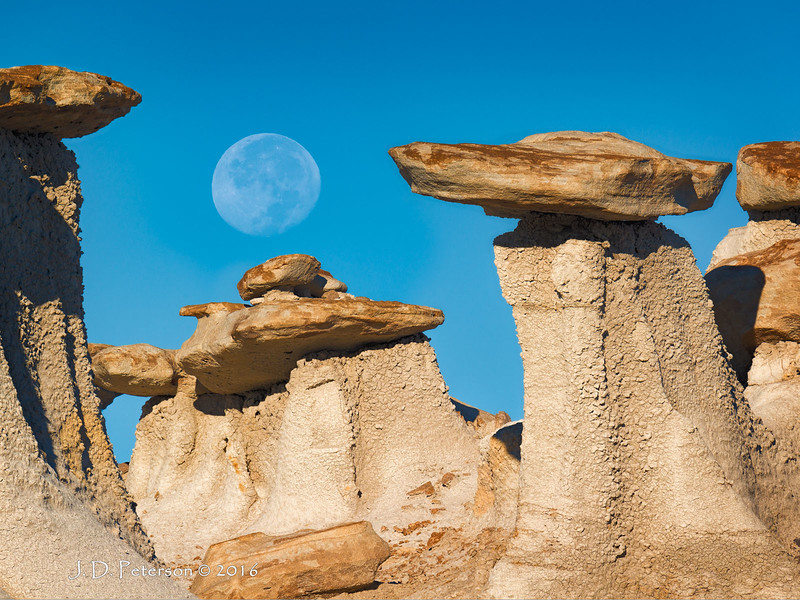 Moon over Valley of Dreams, New Mexico