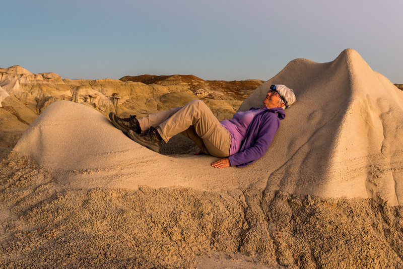 Recumbent in the Blue Hour at Bisti Wings
