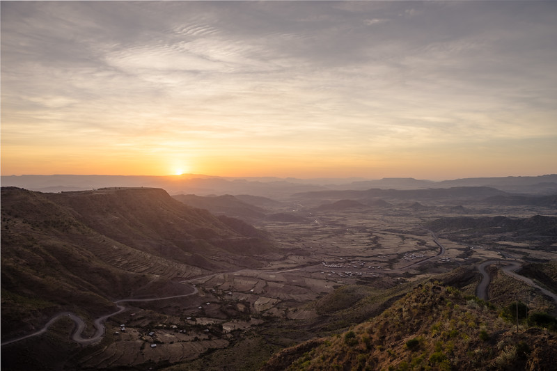 Lalibela : Sunset from Ben Abeban