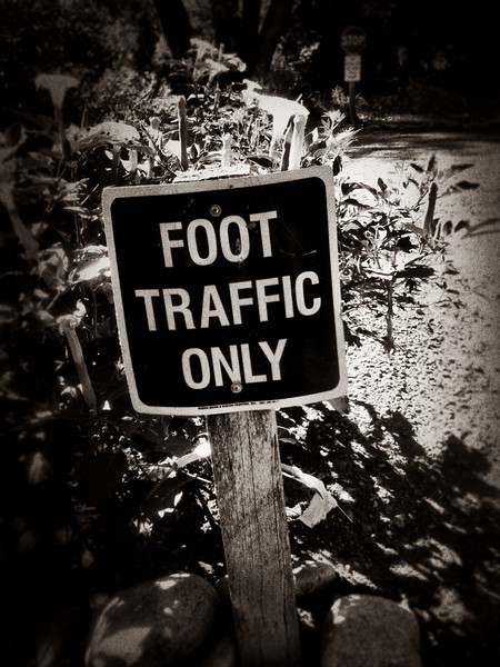 As you can see, there's only foot traffic to get to your tent.