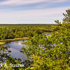 Scenic outlook on River road, west of Oscoda, MI