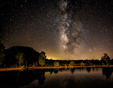 3rd Place tie - Milky Way Over Golden Pond