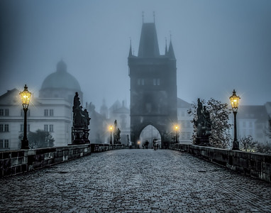3rd Place tie - Foggy Morning, Prague
