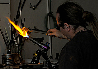 Glass Blower at Work