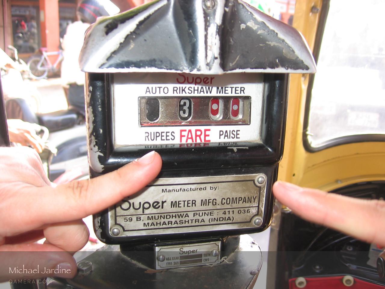 "Rikshaw meter in Jaipur. ""Rikshaw"" is a Chinese word. by Katherine"