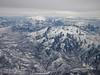 Snow on the mountains near Salt Lake City