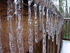 Icicles on Lyn & Rob's deck, Marietta