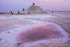 Salt mound and pool, Chott El-Jarid salt lake