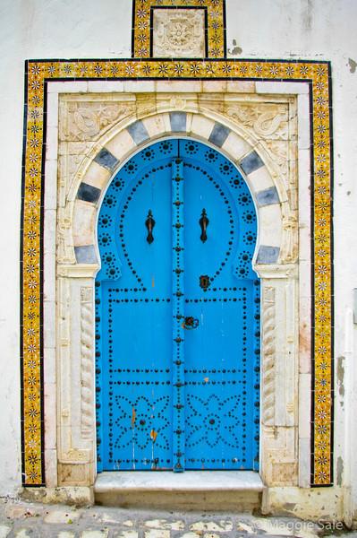 Ornate door in Sidi Bou Said