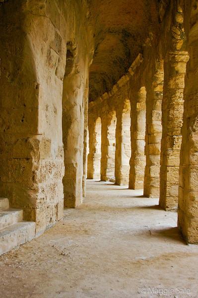 Passage around amphitheatre at El Jem