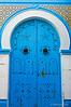 Blue decorative door in Sousse