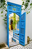 Courtyard doorway in Sidi Bou Said