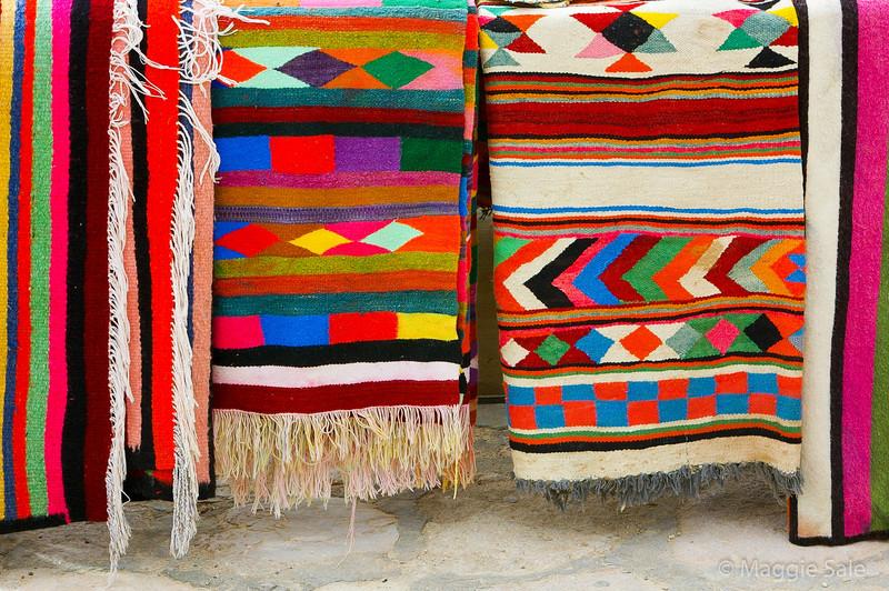 Multi coloured carpets in Kairouan