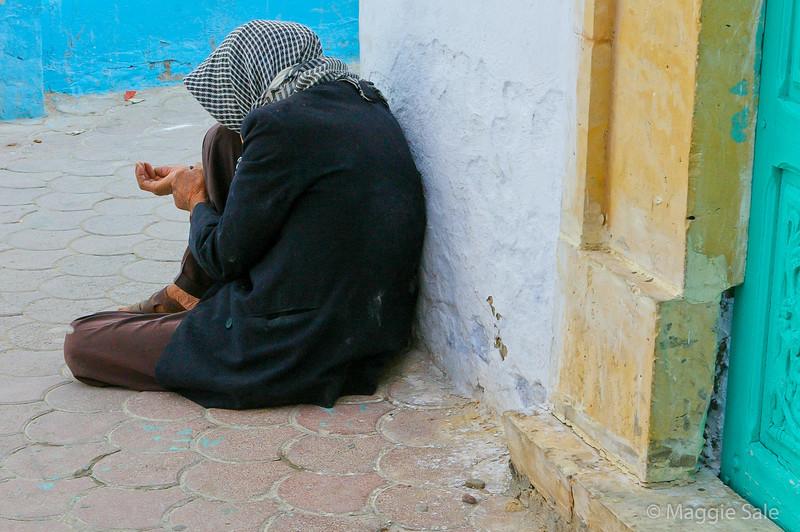 Street beggar in Kairouan