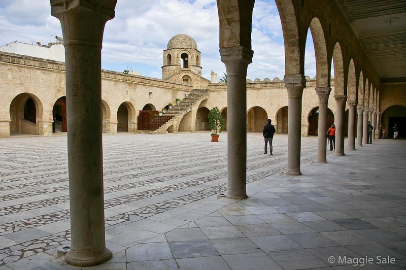 Interior square of Mosque in Sousse