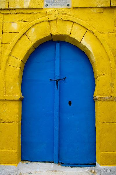Blue door in Sidi Bou Said