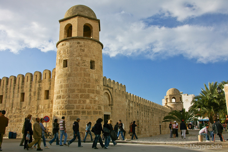 Walls of Great Mosque in Sousse