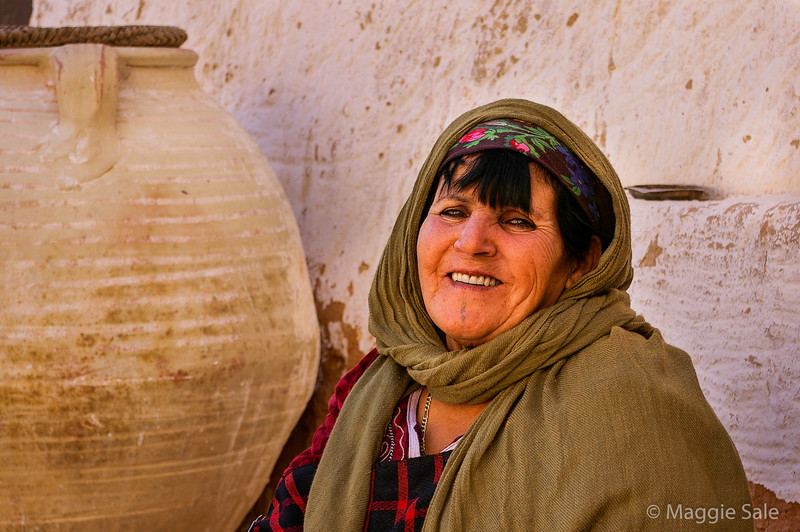 Berber lady at this house