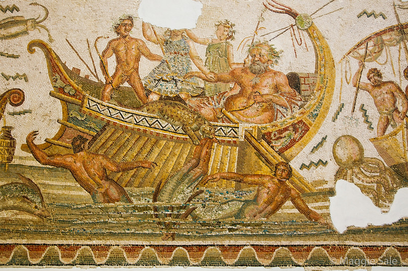 Mosaics found at Carthage and other Roman sites in Tunisia
